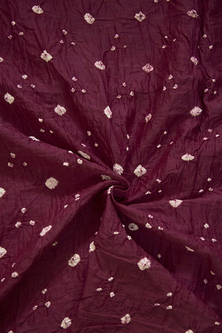 Purple with White Dots Bandhini Cambric Cotton Fabric