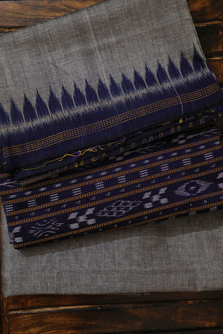 Blue with Grey Orissa Ikat Full Suit