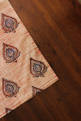 Beige Block Printed Cambric cotton