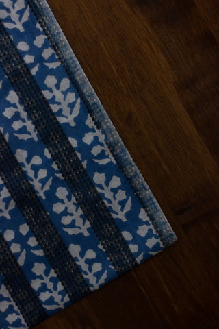 Printed Stripes - Block Printed Cambric cotton