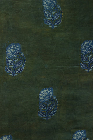 Block Printed Chennuri silk Fabric