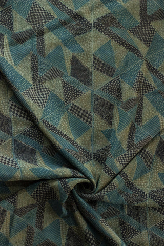 Block Printed Modal Silk Fabric