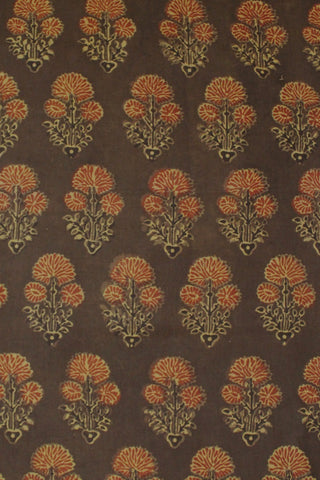 Ajrak Block Printed Cotton Fabric-0.5 m