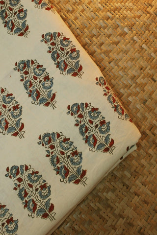 Ajrak Block Printed Cotton Fabric-1 m