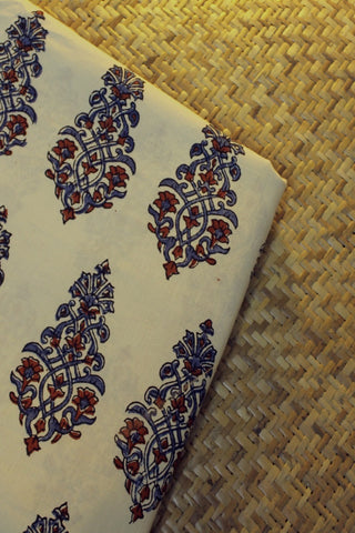 Ajrak Block Printed Cotton Fabric
