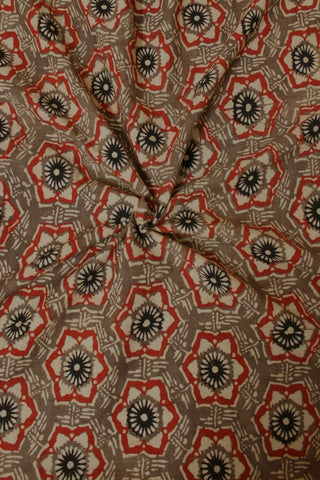 Ajrak Block Printed Cotton Fabric-1.2 m