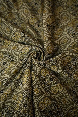 Intricate Design Ajrak Modal Silk Fabric