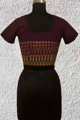 Purple with Black Pin Stripes Stitched Blouse- 36& 38 & 40 Size