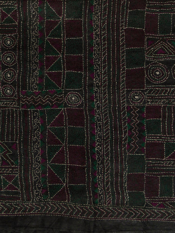 Kantha Work Silk Blouse Fabric
