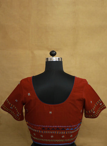 Hand Embroidered Stitched Blouse - 36 Size