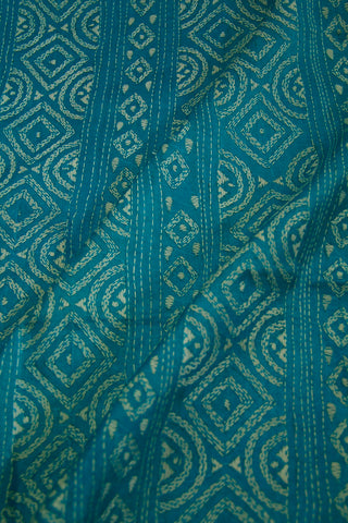 Ramar Blue Kantha Full Work Tussar Silk Blouse