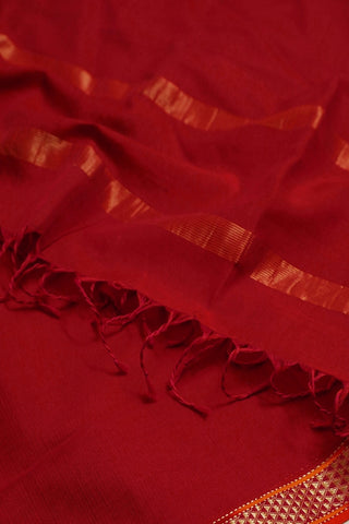 Double Shaded Reddish Pink Maheshwari Silk Cotton Dupatta