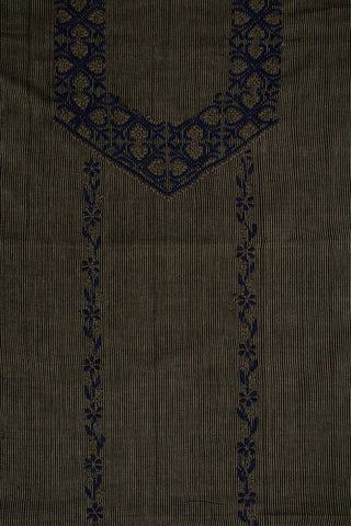 Grey with Blue Chikan Work Kurta Fabric