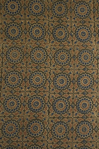 Flower Box Block Printed Ajrak fabric