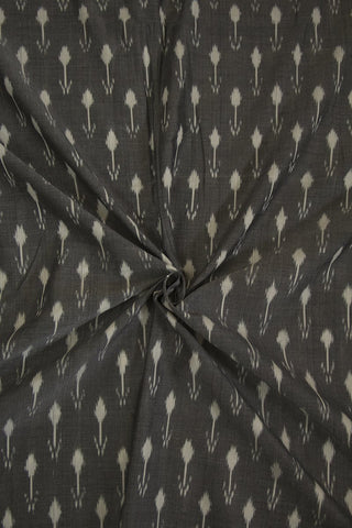 Arrows in Grey Ikat Mercerized Cotton Fabric