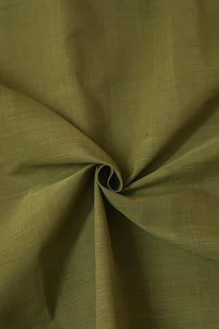 Light Olive Green Natural Dyed Handwoven Cotton Fabric