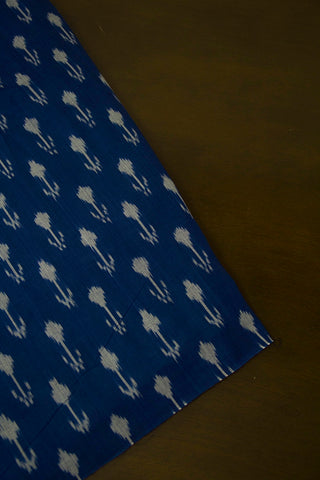 Arrows in Blue Ikat Mercerized Cotton Fabric