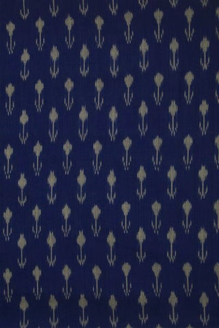 Arrows in Blue Mercerized Ikat Cotton Fabric