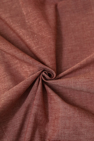 Double Shade Maroon Yarn Dyed Natural Dyed Cotton Fabric