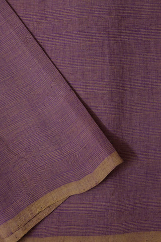 Purple with Beige Pin Stripes Handwoven Cotton Fabric