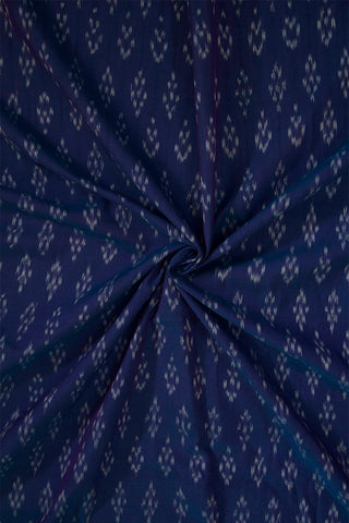 Double Shaded Bluish Purple Ikat Mercerized Cotton Fabric