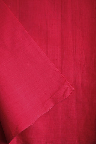 Pink Handwoven Mangalagiri Cotton Fabric-0.6 m