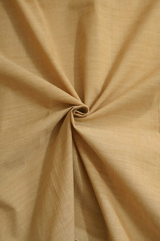 Light Beige Handwoven Mangalagiri Cotton Fabric-1.9m