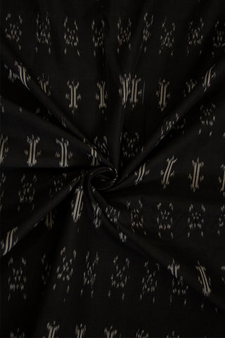 Black Ikat Mercerized Cotton Fabric