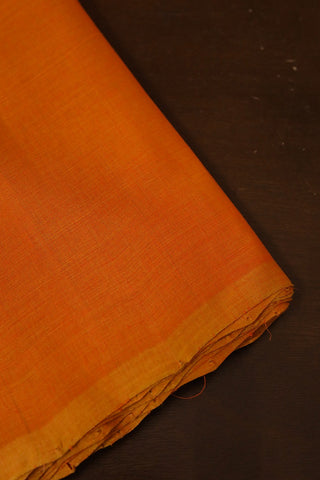 Double Shade Orange Mangalagiri Cotton Fabric-0.7m
