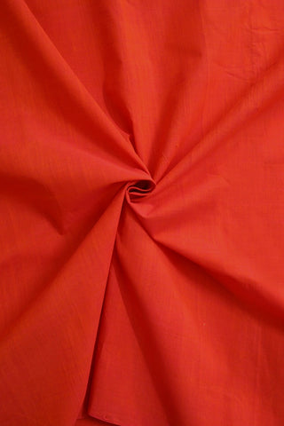 Double Shaded Pinkish Orange Mangalagiri Cotton Fabric
