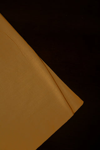 Beige Handwoven Plain Cotton Fabric