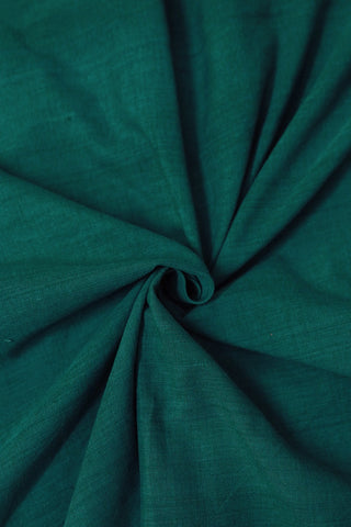 Subdued Peacock Blue Yarn Dyed Cotton Fabric-1.6m