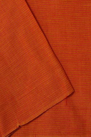 Orange with Pink Pin Stripes Yarn Dyed Cotton Fabric-1.7m