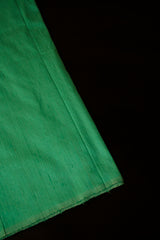 Light Greyish Green Plain Raw Silk Fabric
