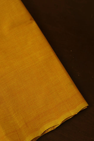 Yellow Handwoven Mangalagiri Cotton Fabric-0.5m