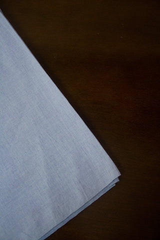 Greyish Blue Handwoven Plain Cotton Fabric