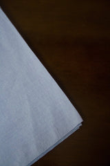 Greyish Blue Handwoven Plain Cotton Fabric - 1.5m