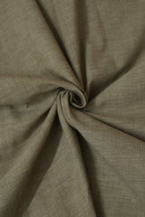 Double Shade Brown Natural Dyed Handwoven Cotton Fabric