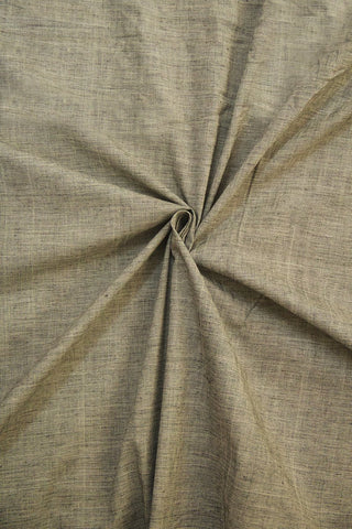 Grey Handwoven Plain Cotton Fabric - 0.5m
