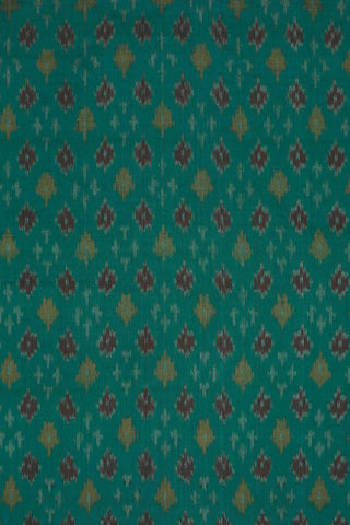 Ramar Blue Ikat Silk Cotton Fabric-1m