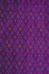 Lavender Ikat Raw Silk Fabric
