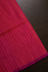 Double Shade Pink Checkered Silk Fabric