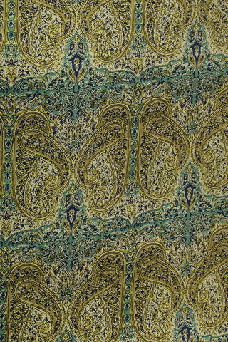 Paisley Sanganeri Cotton Fabric - 1m