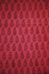 Pink Paisley Bagh Print Cotton Fabric