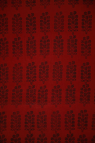 Maroonish Red Bagh Print Cotton Fabric-2 m