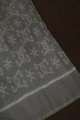 Subtle Designs in Grey - Orissa Ikat Fabric-1.4m