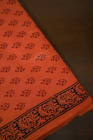 Faded Red Bagh Print Cotton Fabric-1.4 m