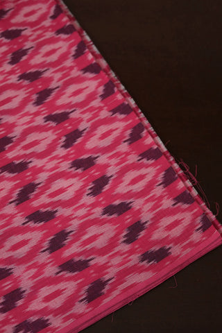 Pink with Purple Handwoven Ikat Cotton Fabric
