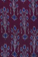 Double Shade Purple with Blue Handwoven Ikat Fabric