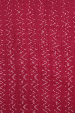 Pink Mercerized Handwoven Ikat Fabric-1.5m